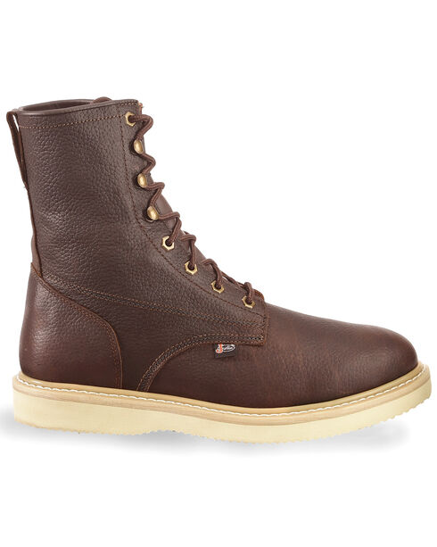 "Justin Men's Axe 8"" Light Duty Lace-Up Work Boots - Soft Toe, Tan, hi-res"