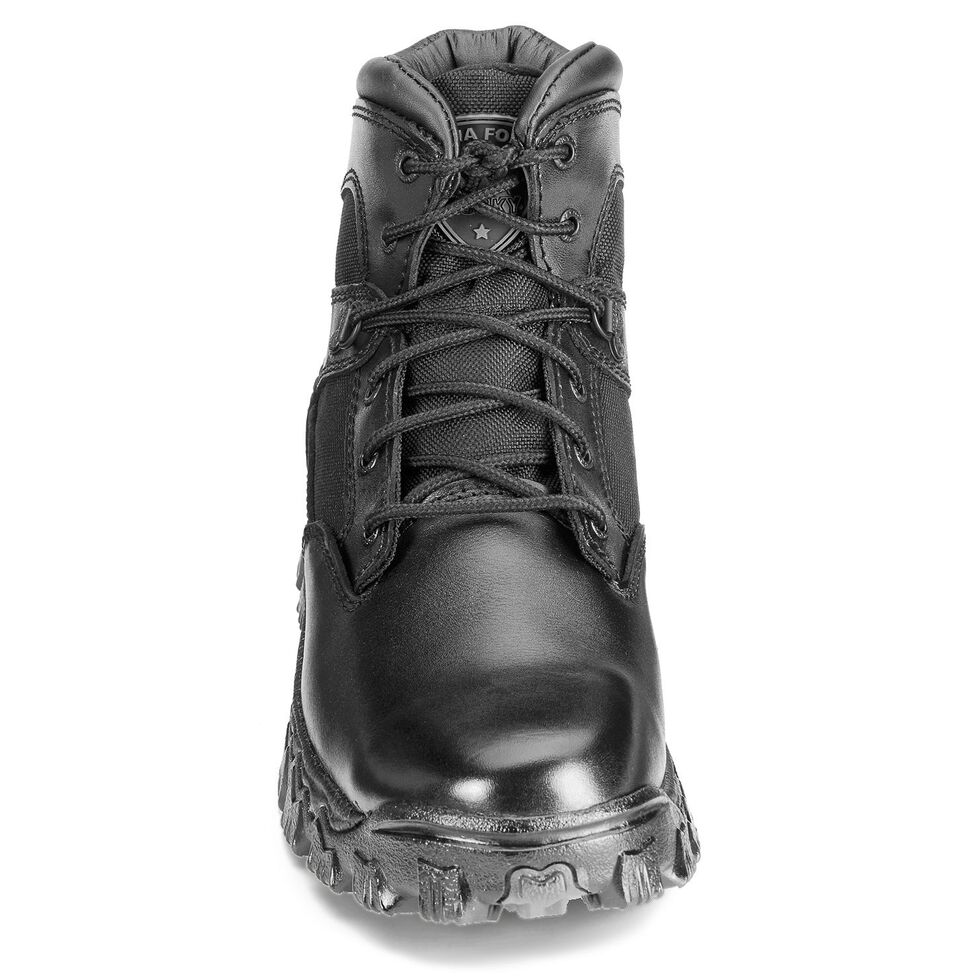 "Rocky 6"" AlphaForce Lace-up Waterproof Duty Boots, Black, hi-res"