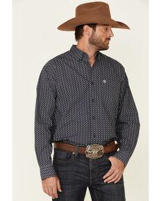 Ariat Men's Charleston Aztec Geo Print Long Sleeve Button-Down Western Shirt - Big & Tall, Black, hi-res