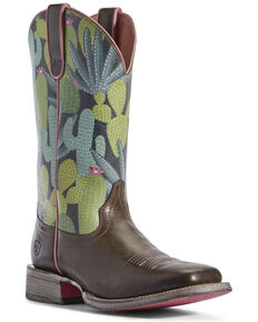 Ariat Women's Circuit Savanna Desert Western Boots - Wide Square Toe, Brown, hi-res