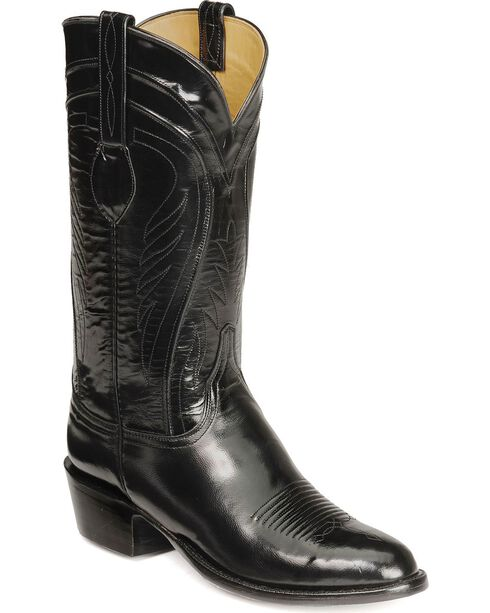 Lucchese Handcrafted Classics Seville Goatskin Boots - Medium Toe, Black, hi-res
