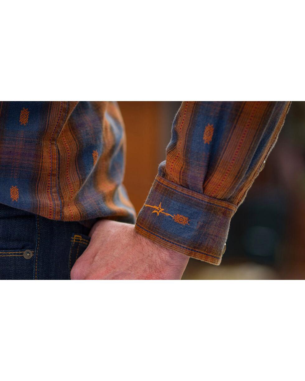 Ryan Michael Men's Ombre Dobby Plaid Shirt , Brown, hi-res