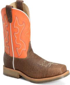 Double H Men's Roper Western Work Boots - Composite Toe, Brown, hi-res