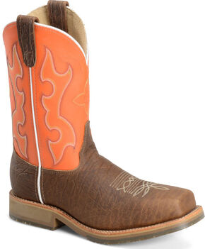Double H Men's Roper Western Work Boots - Composite Toe, Brown, hi-res