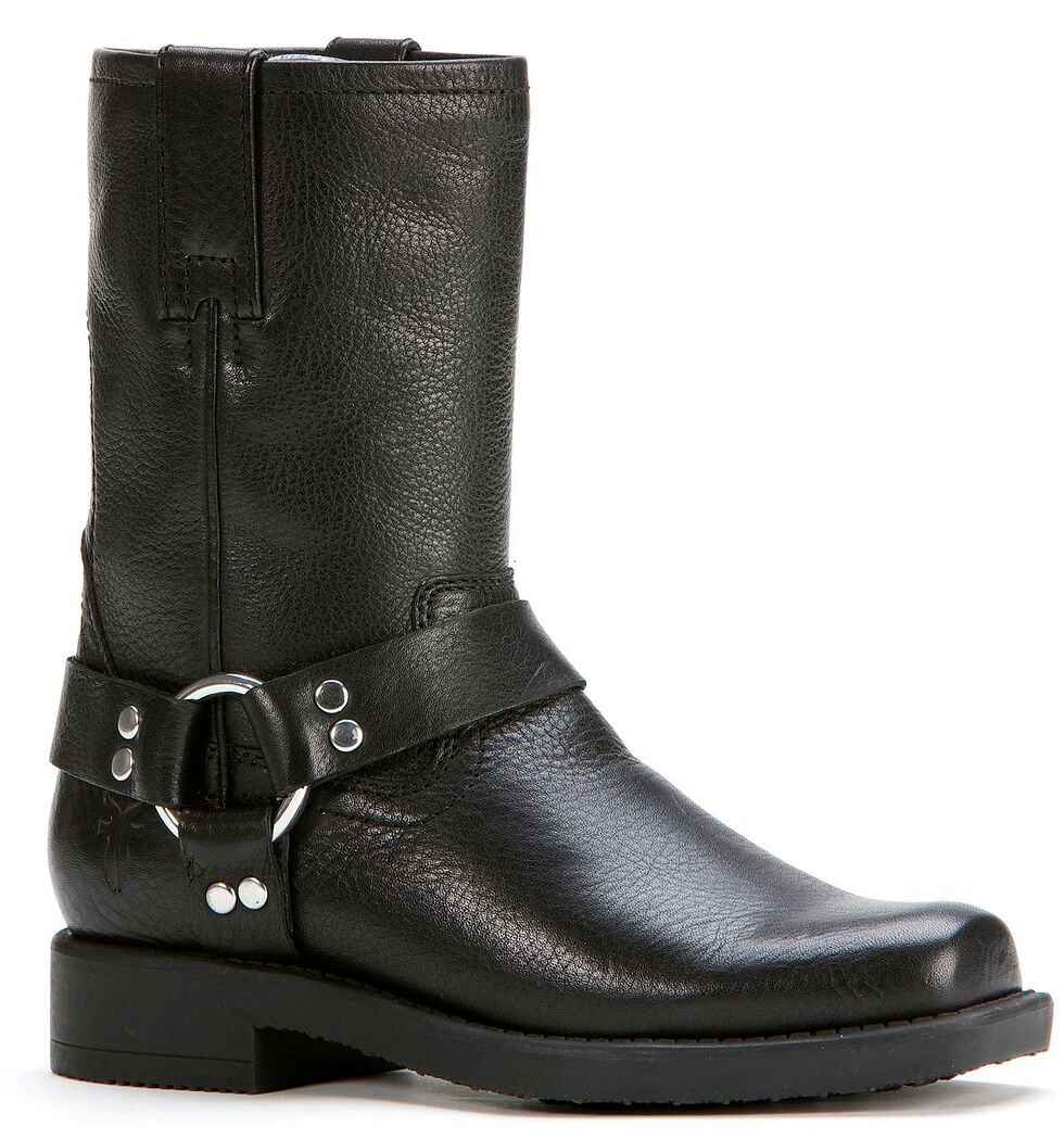 Frye Boys' Harness Pull-On Boots, Black, hi-res