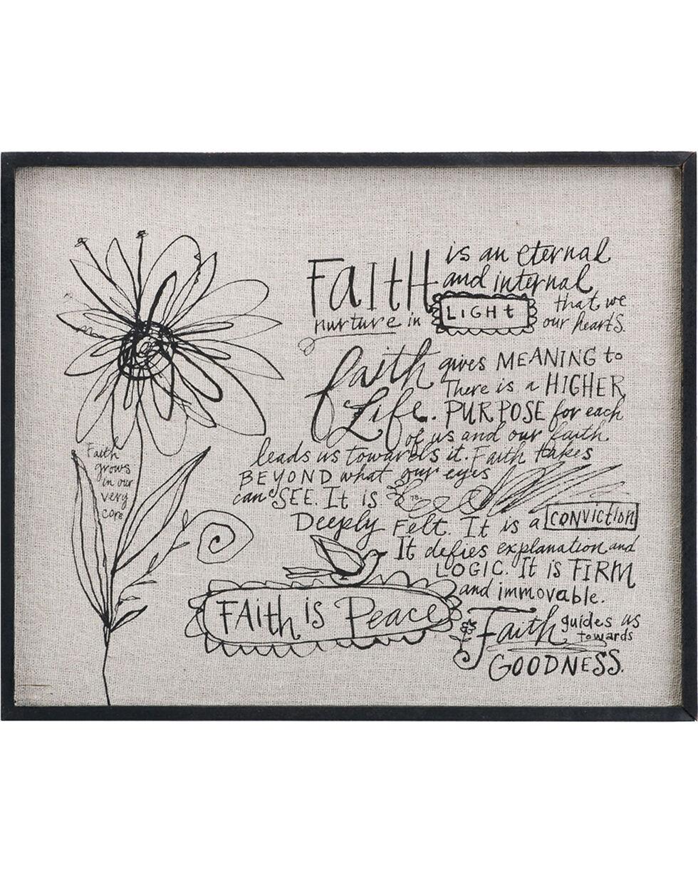 Demdaco Cream Poetic Threads Faith Wall Decor , Cream, hi-res