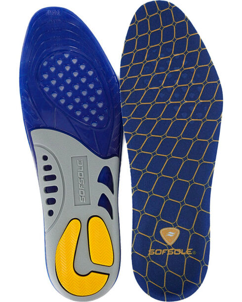 SofSole Gel Support Insoles , Blue, hi-res