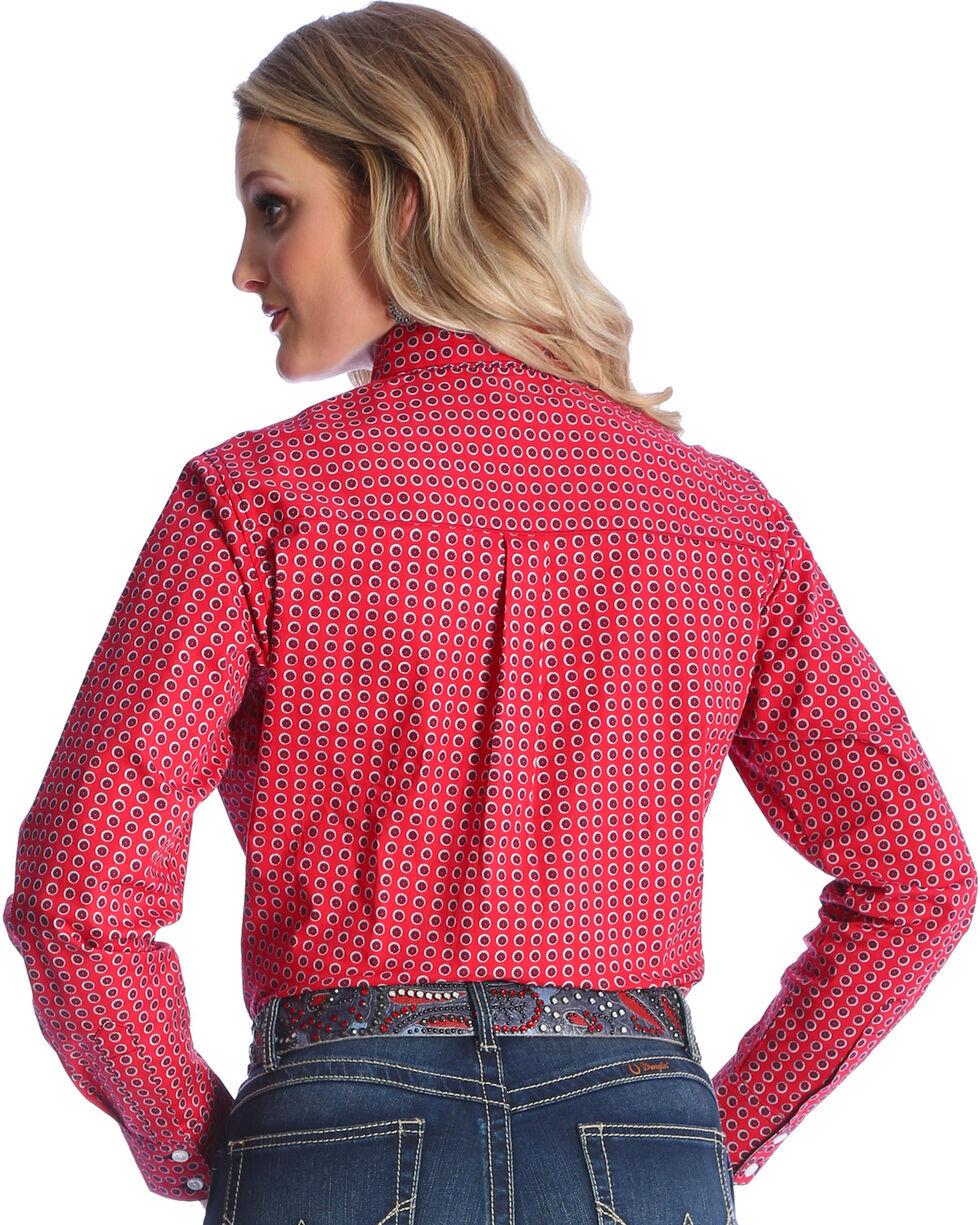 Wrangler Women's Red George Strait Medallion Print Shirt , , hi-res