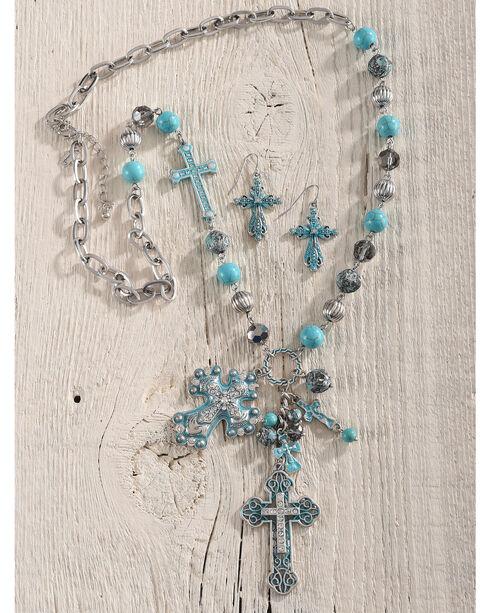 Shyanne Women's Multi-Cross Jewelry Set, Turquoise, hi-res