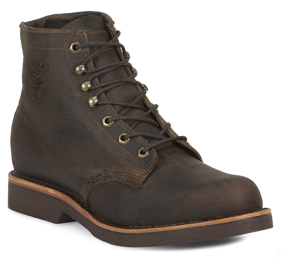 """Chippewa 6"""" Lace-Up Work Boots - Steel Toe, , hi-res"""