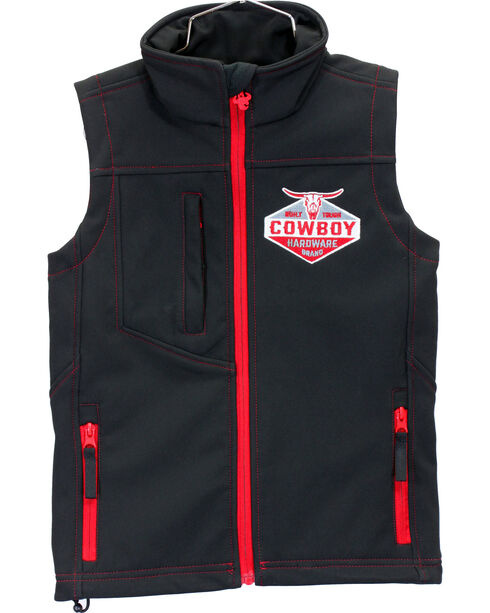 Cowboy Hardware Boys' Built Tough Vest, Black, hi-res