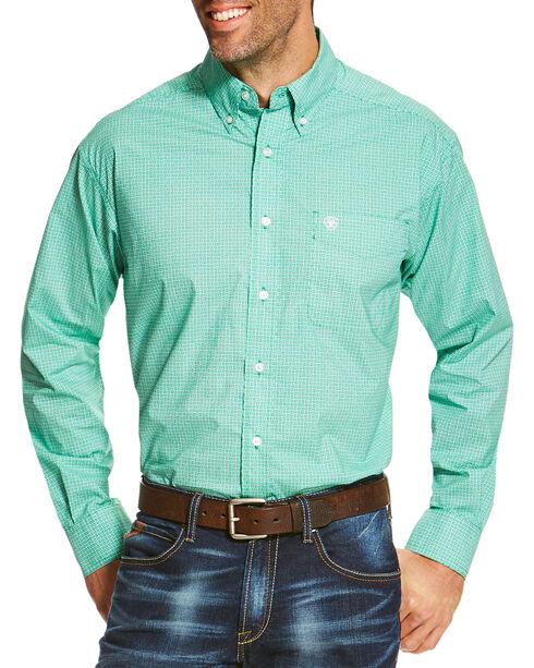 Ariat Men's Green Otto Print Long Sleeve Shirt , Green, hi-res