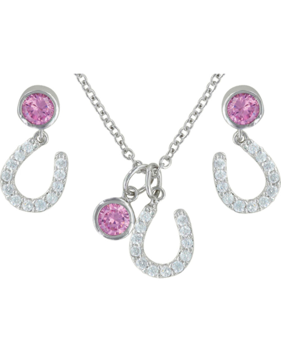 Montana Silversmiths Pink Luck by Starlight Jewelry Set, Silver, hi-res