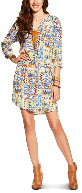 Ariat Women's Dyna Crepe Print Dress, Multi, hi-res