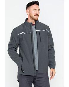 Hawx® Men's Soft-Shell Work Jacket - Big & Tall , Charcoal, hi-res