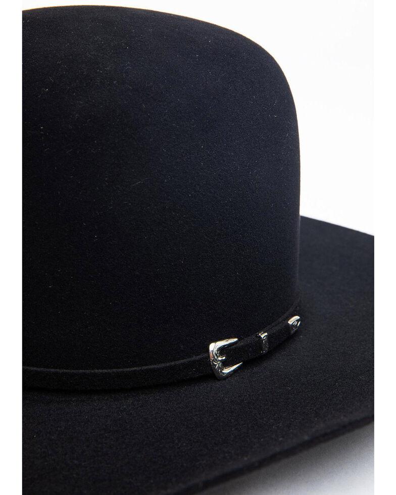 Rodeo King 5X Black Felt Bullrider Cowboy Hat, Black, hi-res