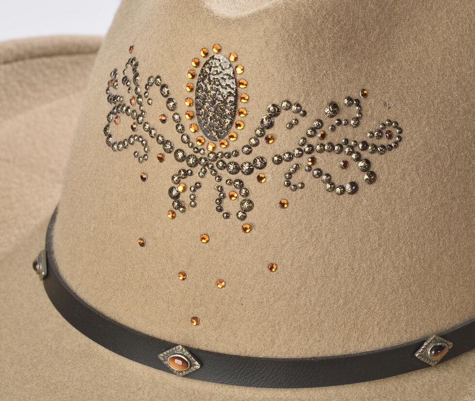 Destiny Rhinestone Embellished Crushable Wool Cowgirl Hat, Putty, hi-res