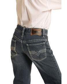Rock & Roll Denim Boys' Dark Vintage Classic Bootcut Jeans , Blue, hi-res