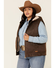 Outback Trading Co. Women's Brown Concealed Carry Heidi Vest - Plus, Brown, hi-res