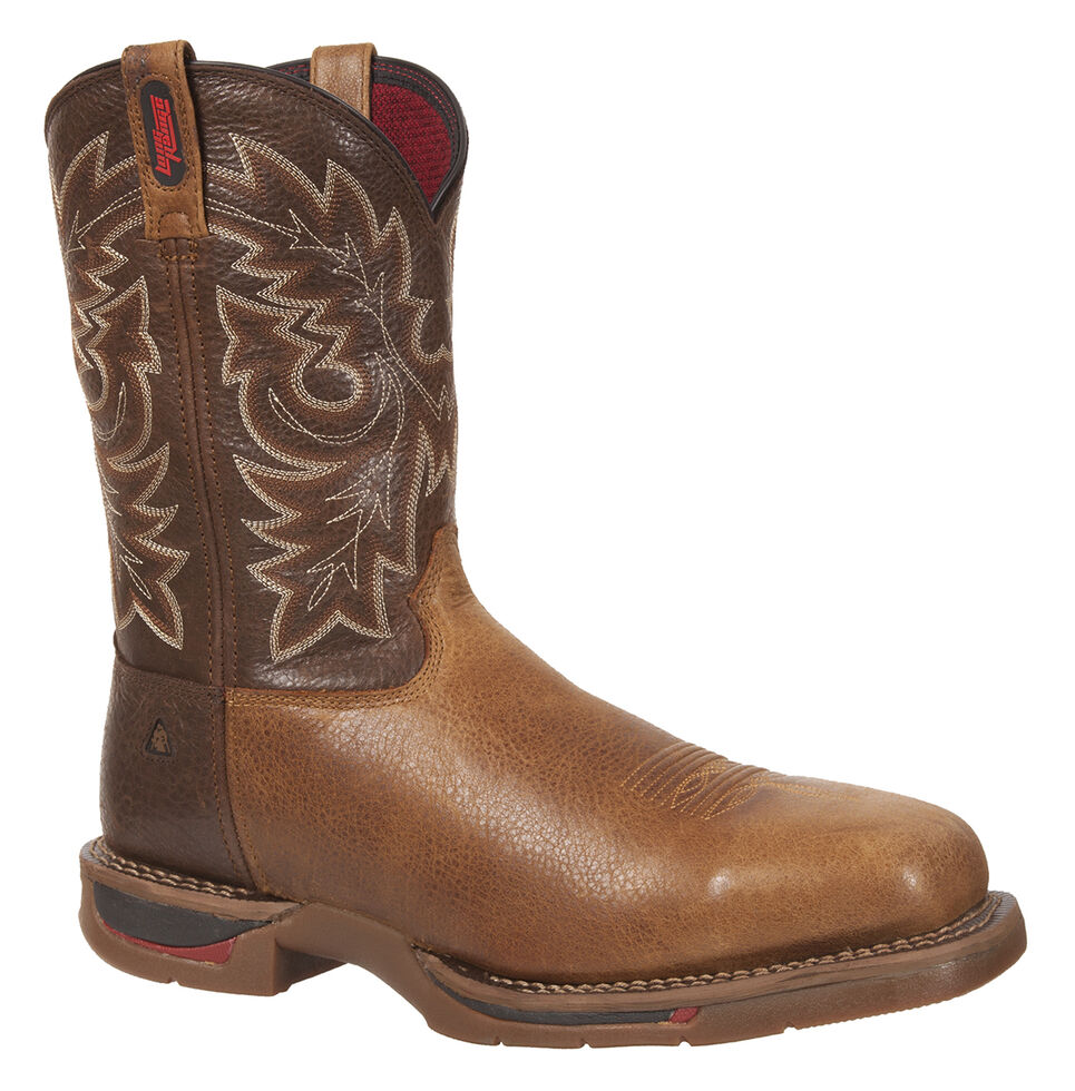 Rocky Long Range Western Work Boots - Composite Toe, Saddle Brown, hi-res