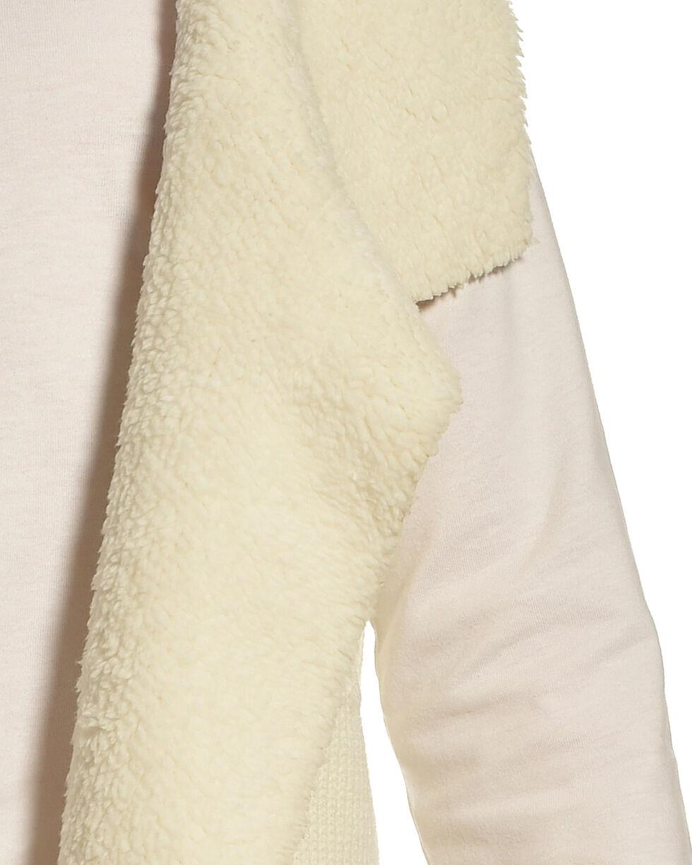 Derek Heart Girls' Cream Sherpa Collar Sweater Vest , Cream, hi-res