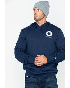 Carhartt Men's Graphic Hooded Work Sweatshirt , Navy, hi-res