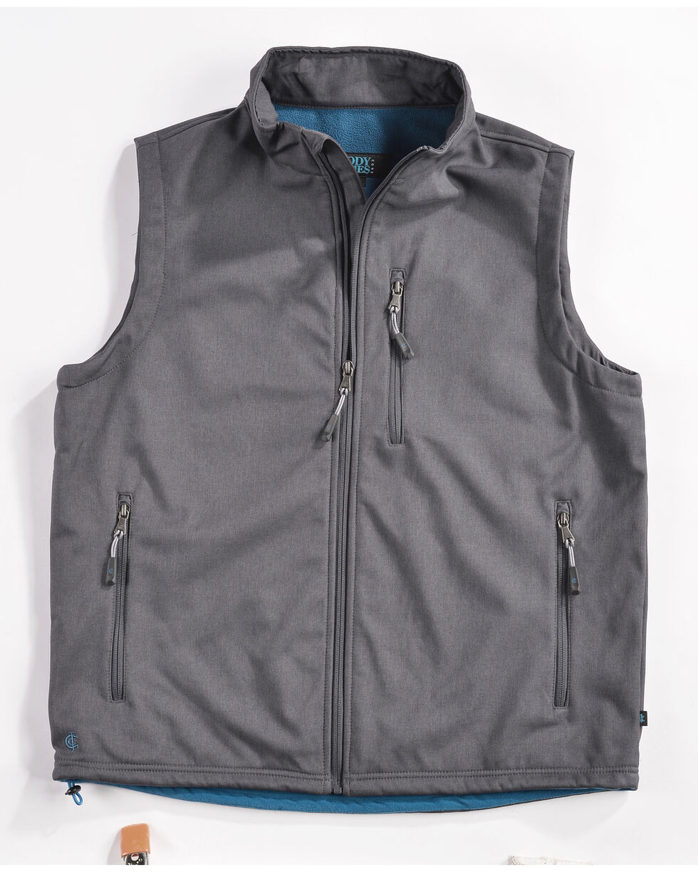 Cody James Men's Zip Vest, Charcoal, hi-res
