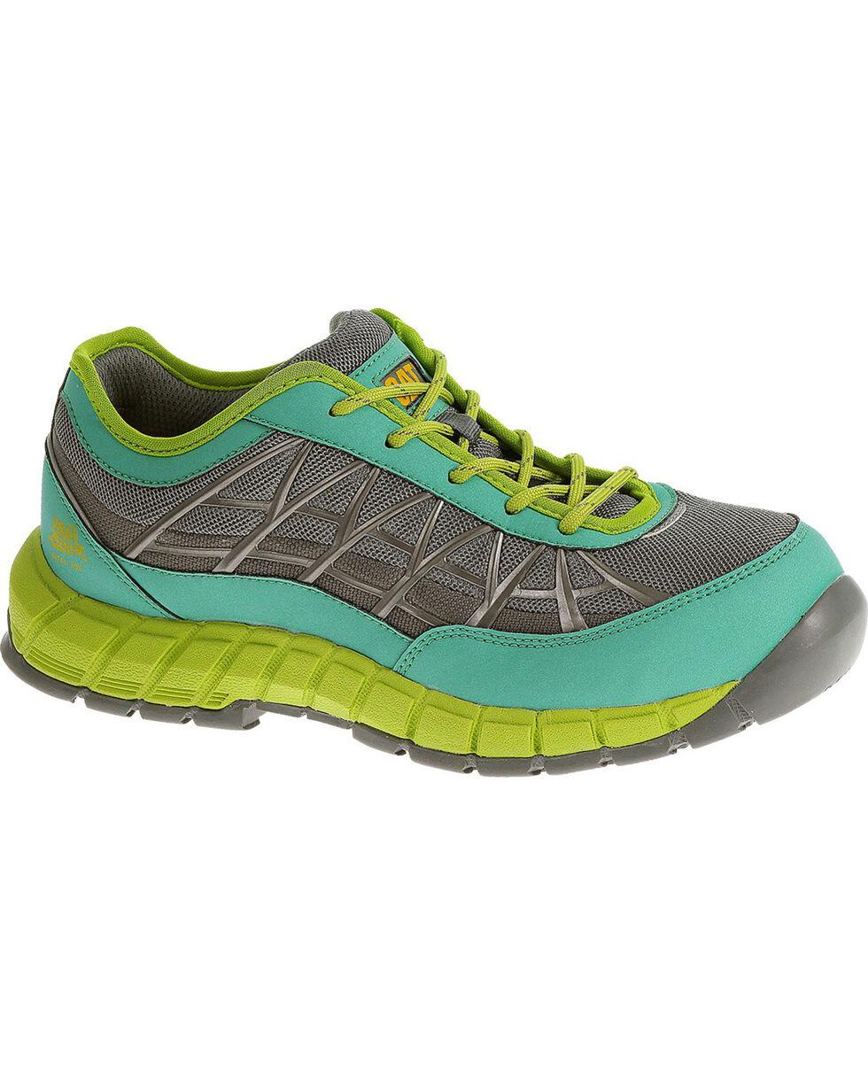 Caterpillar Women's Green Connexion Work Shoes - Steel Toe , , hi-res