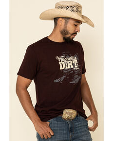 Cody James Men's Boot Dirt Graphic Short Sleeve T-Shirt , Burgundy, hi-res