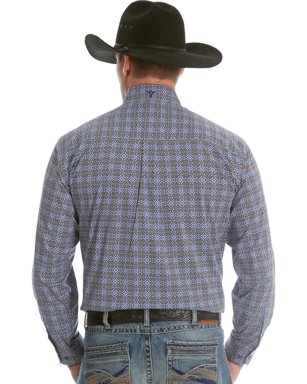 Wrangler Men's Blue 20X Advanced Comfort Competition Shirt , Blue, hi-res