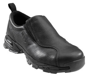 Nautilus Men's Black ESD Slip-On Work Shoes - Steel Toe, Black, hi-res