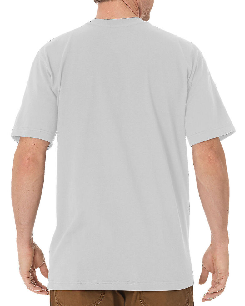 Dickies Men's Solid Heavyweight Short Sleeve Work T-Shirt - Big & Tall, Grey, hi-res