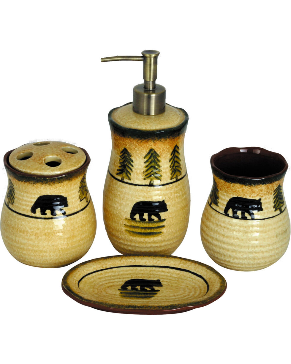 HiEnd Accent Multi Four-Piece Bear Bathroom Set , Multi, hi-res