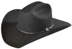 Justin 2X Pacer Black Wool Felt Cowboy Hat , Black, hi-res