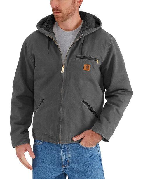 Carhartt Sierra Sherpa Lined Work Jacket, Dark Grey, hi-res