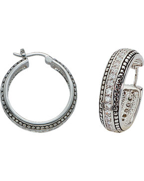 Montana Silversmiths Small Bling Hoop Earrings, Silver, hi-res