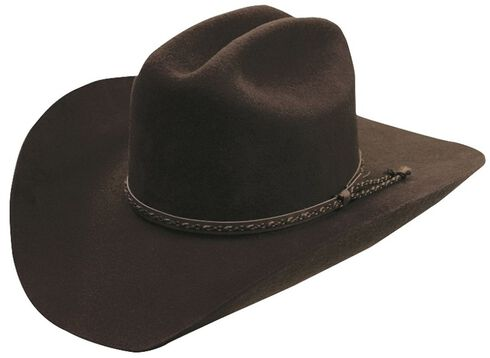 Silverado Chocolate Wool Felt Cowboy Hat, Chocolate, hi-res