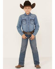 Cinch  Boys' White Label Jeans - 8-16 Slim, Denim, hi-res