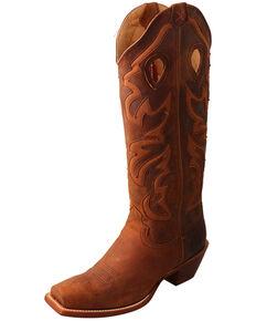 Twisted X Women's Buckaroo Saddle Western Boots - Snip Toe, Brown, hi-res