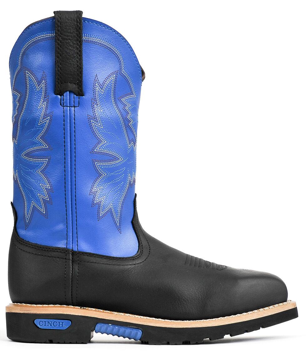 """Cinch® WRX Men's Waterproof Steel Toe 10"""" Work Boots, Black, hi-res"""