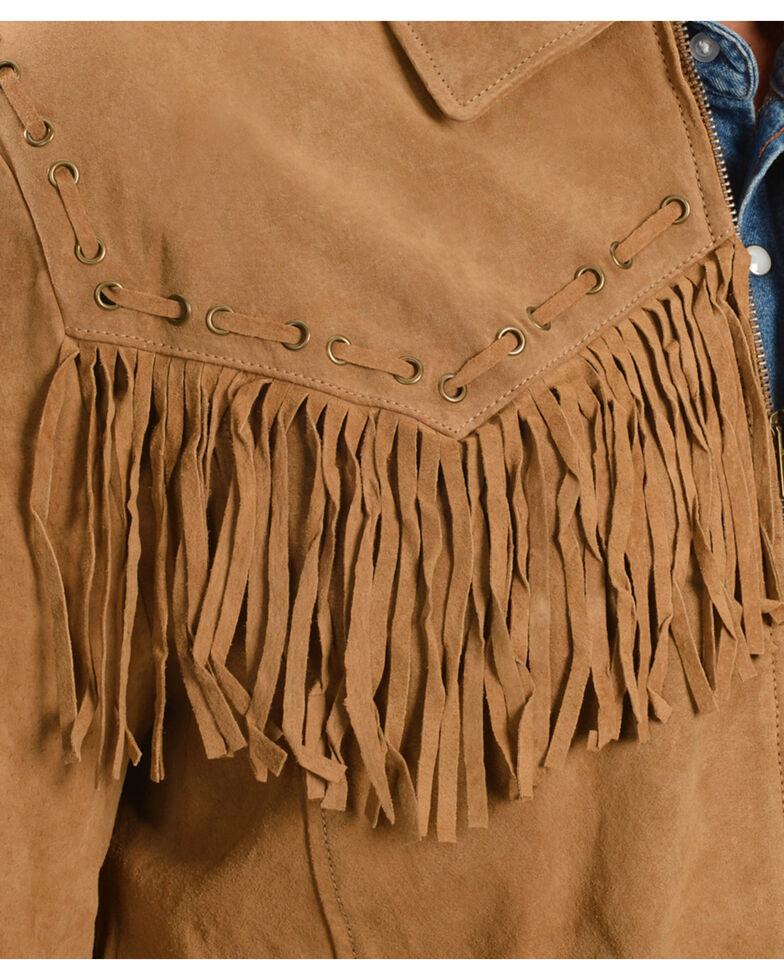 Scully Fringed Suede Leather Short Jacket, Bourbon, hi-res