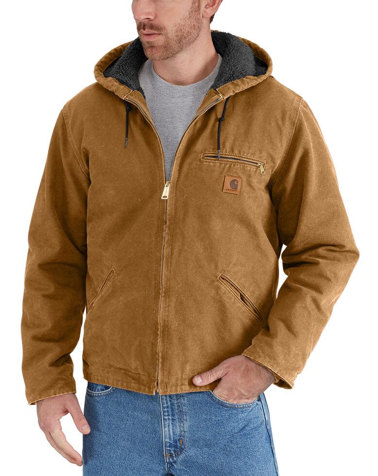 Carhartt Men's Sierra Sherpa Lined Work Jacket - Big & Tall, Carhartt Brown, hi-res