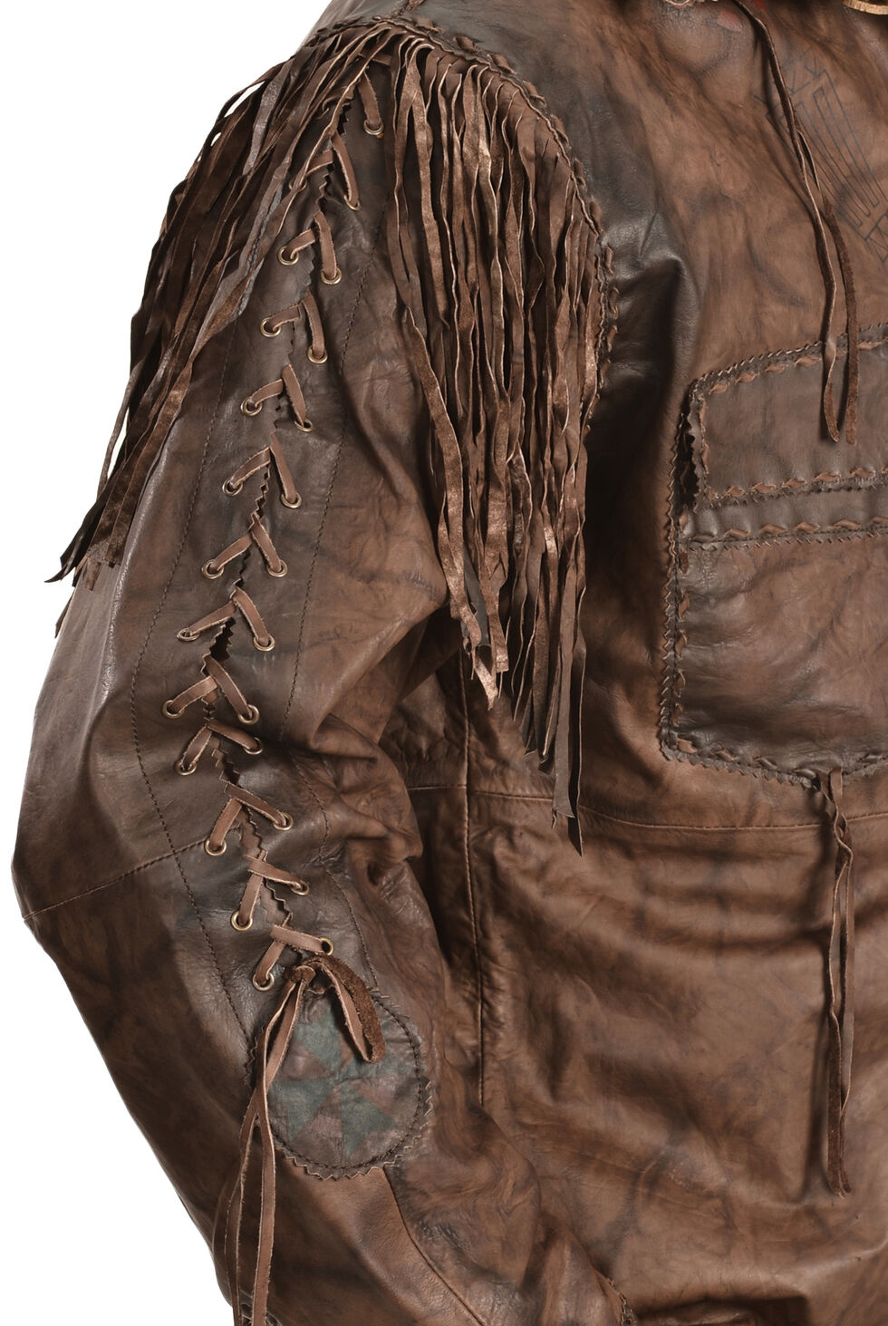 Kobler Leather Men's Chirikahua Leather Shirt, Brown, hi-res