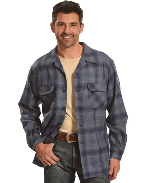 Pendleton Men's Grey Plaid Boardshirt, Grey, hi-res