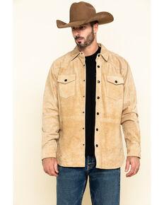 Moonshine Spirit Men's Auckland Long Sleeve Suede Shirt Jacket , Brown, hi-res