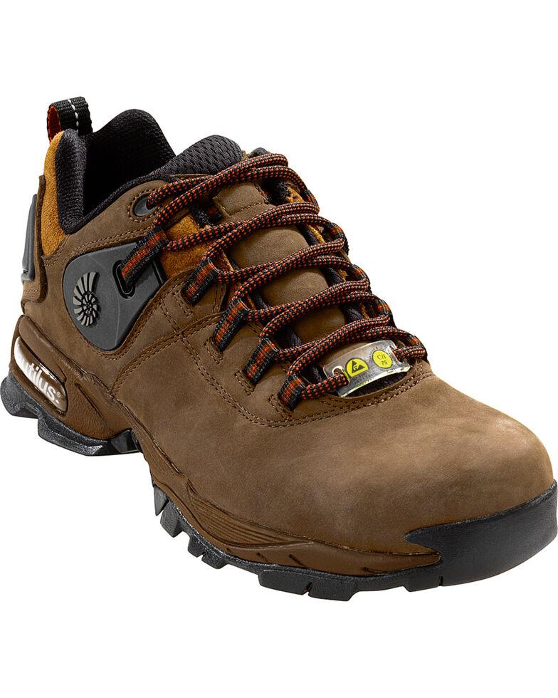 Nautilus Men's Brown Ergo SD Work Shoes - Comp Toe , Brown, hi-res