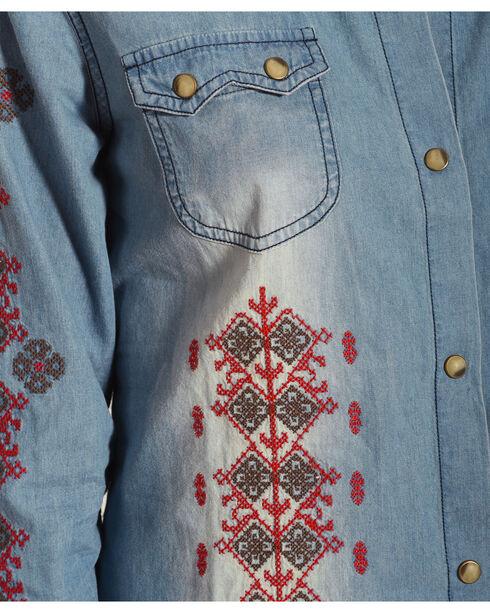 Tasha Polizzi Women's Denim Arlo Shirt , Red, hi-res