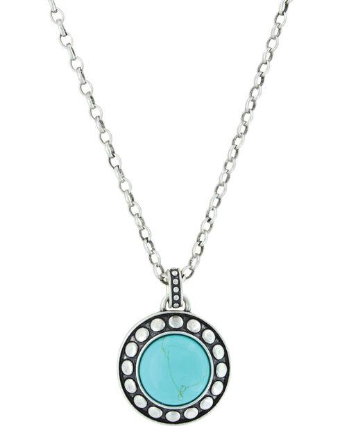 Montana Silversmiths Women's Beaded Button Attitude Nacklace, Silver, hi-res
