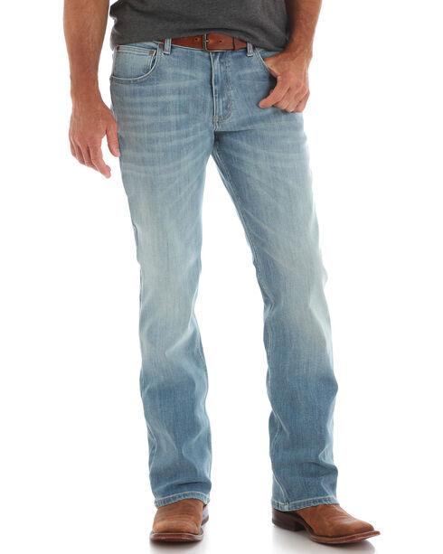 Wrangler Men's Blue Retro Relaxed Fit Jeans - Boot Cut , Blue, hi-res