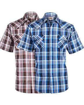Ely Walker Men's Plaid Assorted Short Sleeve Shirt, , hi-res